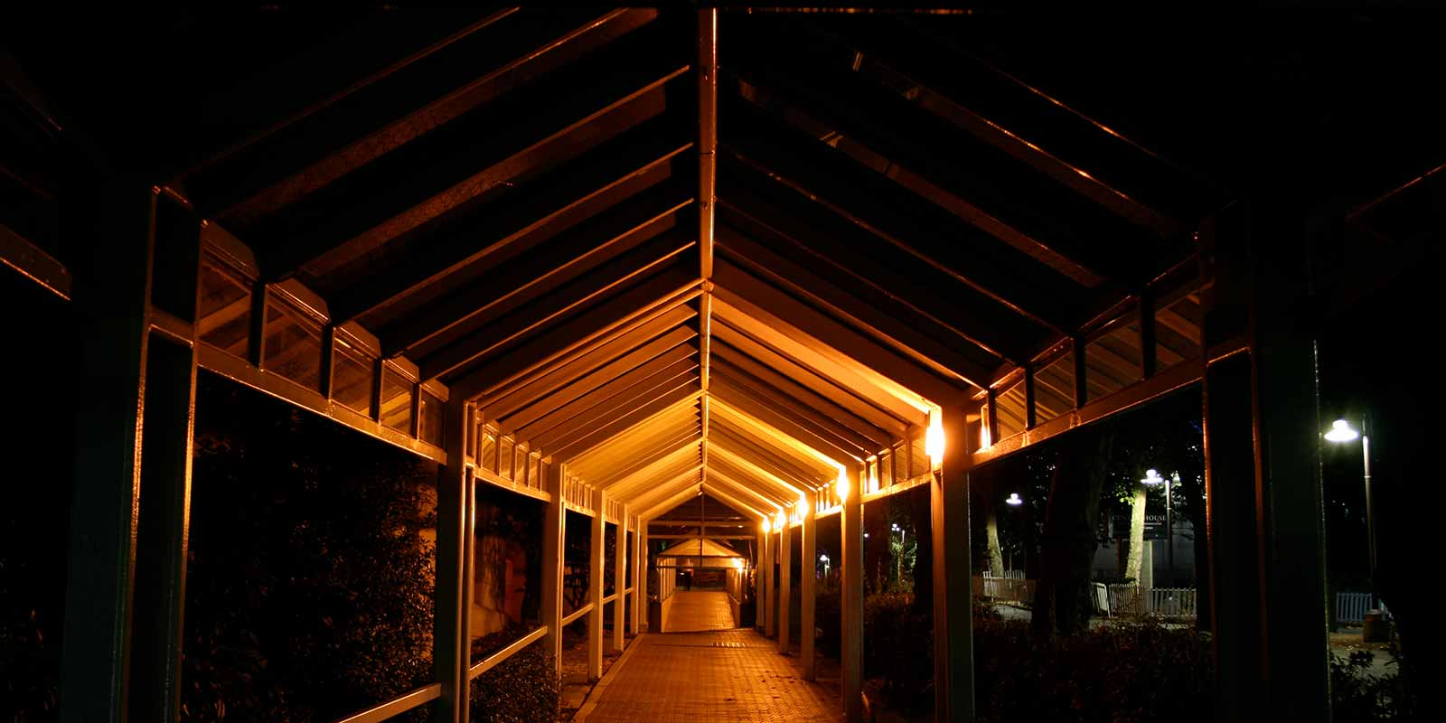 Covered walkway at Seattle Center